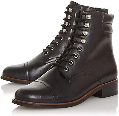 dune black lace up boots