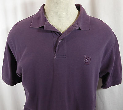 IZOD Polo Shirt Mens M Purple Cotton Embroidered Logo Short Sleeve Casual
