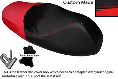 RED /& BLACK CUSTOM FITS APRILIA ATLANTIC 125 250 DUAL LEATHER SEAT COVER ONLY