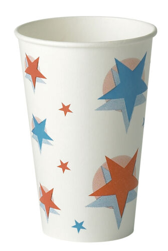 Strong Paper Soft Drinks Cups Disposable Coke Coca Cola Star Design Supplies