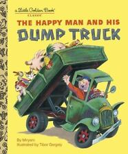 The Happy Man And His Dump Truck by Little Golden Book Hardcover Kids Story Book