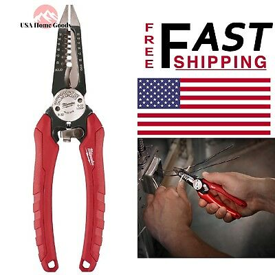 Electricians Wire Strippers 6 in 1 Bolt Cutter Durable Easy Use Milwaukee 10 in