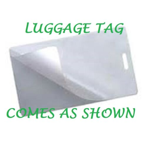 100 Luggage Tag 10 Mil Laminating Pouches Sheets W//Slot 2.5 x 4.25  Quality