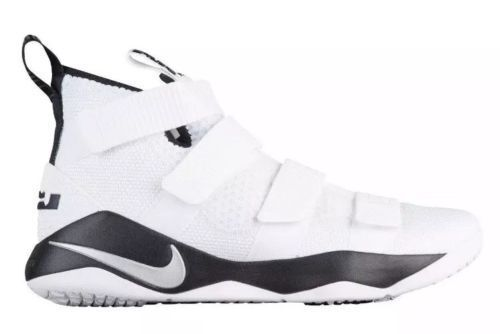 2a2ccbde1b72 Nike Lebron Soldier XI 11 TB Promo Men 943155-106 White Black Basketball  Size 13 for sale online