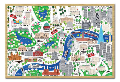 Framed Jamie Malone London Map Poster New