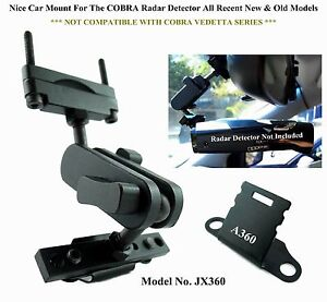 ONE Set Nice Car Mount For The Rear Mirror COBRA Radar Detector New & Old Models