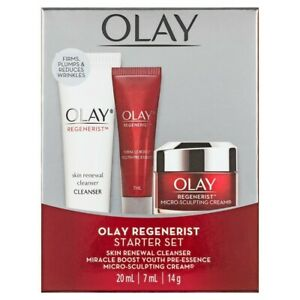 OLAY Regenerist Starter Set: Skin Renewal Cleanser, Miracle Boost Youth Pre-Esse