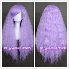 Lolita dreamlike long Rhapsody lavender purple curly wave cosplay hair wig