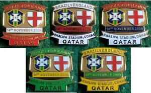 Brazil-v-England-Friendly-International-Qatar-14-November-2009-Pin-Badge