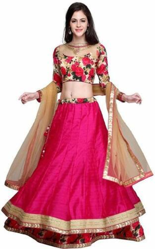 Women Party Wear Banglory Cotton Silk Semi-stitched Traditional Lehenga Choli