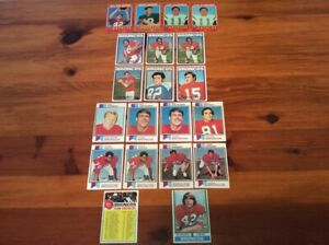 Lot of 20 Trading Cards - 1971 - 1974 Topps FOOTBALL Denver Broncos (AFC)