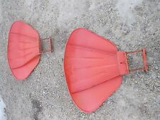 Case Vac Tractor Pair Set Of Clamshell Clam Shell Fenders Amp Mounting Hardware