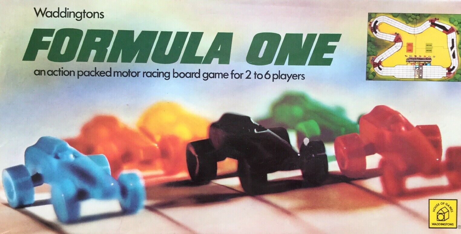 FORMULA ONE VINTAGE BOARDGAME (1978) COMPLETE WITH INSTRUCTIONS