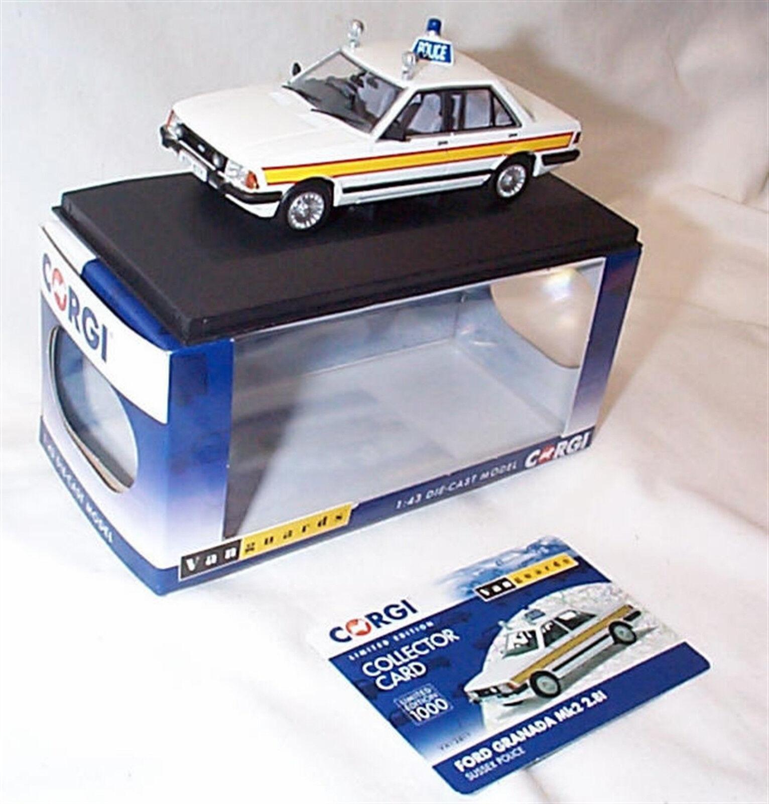 Vanguards Ford Granada MK2 2.8i Sussex policía policía policía VA12411 Ltd Ed c6337f