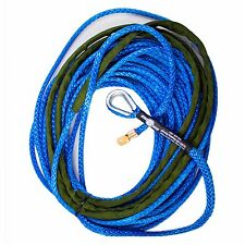 3/8 x 100 AmSteel - Blue Main line Synthetic Winch Rope Line Thimble
