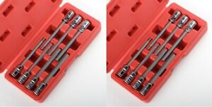 3-8-METRIC-and-SAE-Extra-Long-Hex-Allen-Bit-Socket-Set-14pc-w-Case-NEW-FREE-SHIP