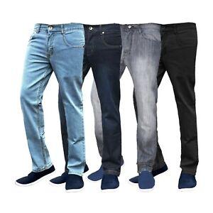 Caricamento dell immagine in corso Jeans -da-Uomo-Slim-Fit-Gamba-Dritta-Pantaloni- af1a5580d70