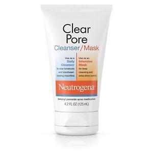 Neutrogena-Clear-Pore-Cleanser-Mask-Acne-spot-Treatment-Benzoyl-Peroxide-4-2oz
