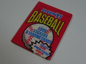 1991-Fleer-MLB-American-Baseball-Trading-Card-Pack-of-9-amp-1-Sticker