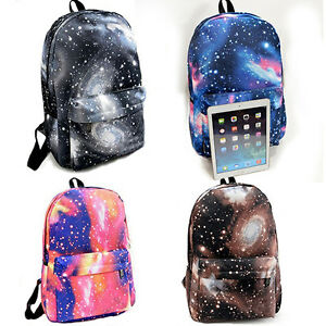 New-Unisex-Galaxy-Space-Backpack-Travel-Rucksack-Canvas-Storage-School-Bags-UK