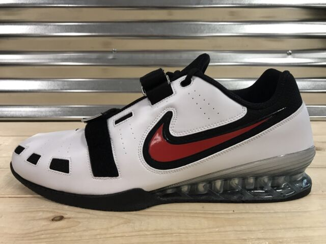 Nike Romaleos 2 Weightlifting Powerlifting Shoes White Red SZ 18 (  476927-161 ) 33419c15e4