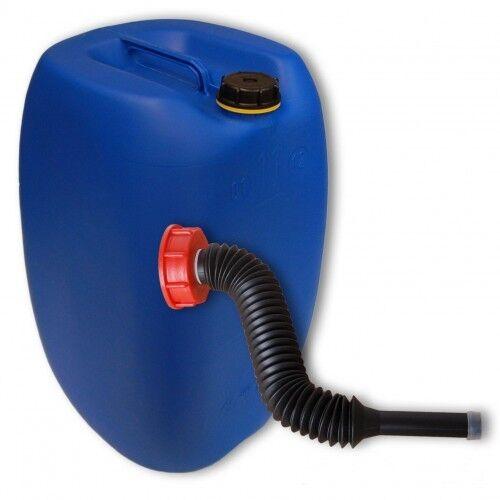 Plastic container 60 l Blau din 61 + 1 long spout FLEXIBLE HDPE (22250+037)