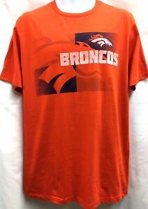 Denver Broncos NFL Mens Short Sleeved Crew Neck T Shirt L Orange NEW ... cfb1326da