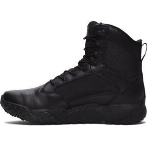 Under-Armour-1268951-001-Men-039-s-Black-DWR-Leather-8-034-High-UA-Stellar-Boots