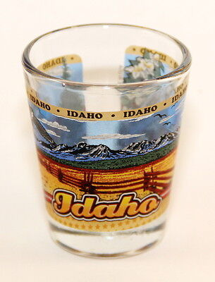 WYOMING STATE WRAPAROUND SHOT GLASS SHOTGLASS
