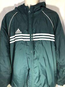 3c64411b Vintage 1999 Men's Adidas Jacket / Coat Size XL Green with Zip ...