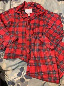 Boys New Lanz Pajama Set Holiday Christmas Reindeer Navy