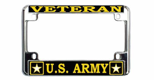VETERAN US ARMY Quality Metal MOTORCYCLE License Plate Frame