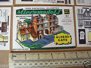 1950s-Vintage-Original-Micromodels-Cut-Out-Kit-ARC-X-10-Alder-039-s-Gate-3