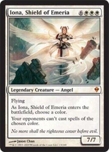 Iona 1x English -BFG- MTG Magic Shield of Emeria x1 Zendikar Near Mint