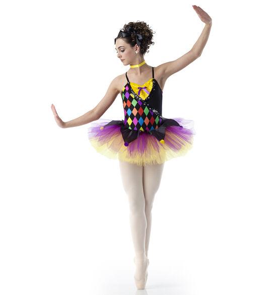 Marionette Dance Costume Clown Ballet Tutu Nutcracker Jester Clearance Adult Lar