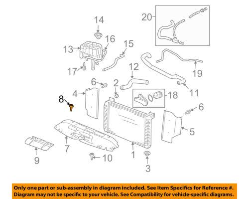 GM OEM Radiator-Upper Panel Retainer SOLD AS EACH GM # 11561878