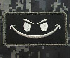 EVIL SMILEY SMILE FACE TACTICAL MORALE ISAF US SWAT VELCRO® BRAND FASTENER PATCH