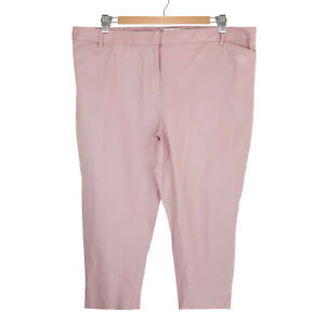 Sportscraft-Plus-Size-22-Womens-Linen-Blend-Work-Office-Pants-Trousers-Pink