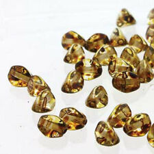 Crystal Picasso Pinch Czech Glass Beads 5mm 50 Beads Loose Strand