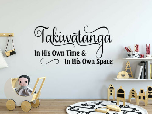 "quote Autism /""Takiwatanga/"" wall art sticker vinyl transfer Decoration"