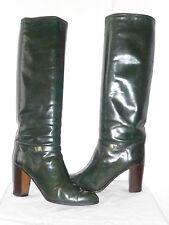 """Bottes  Vintage  1982  """"Vert Emeraude""""   - FOOTING  Italie    ---  T. 37,5"""