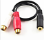 Dual-RCA-Female-to-3-5mm-Female-Stereo-Splitter-Cable thumbnail 3