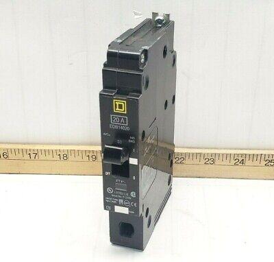 NEW SQUARE D 20 AMP 1 POLE CIRCUIT BREAKER EDB14020   277 VAC