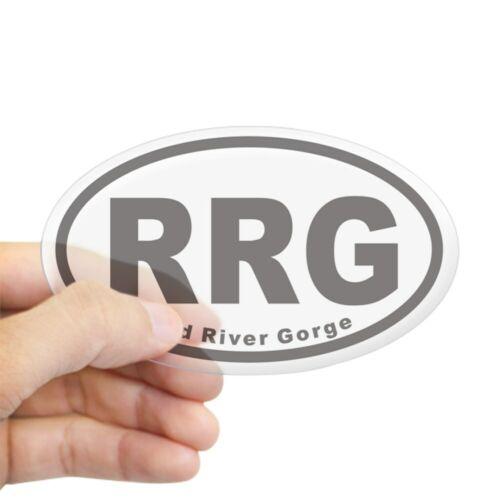 419261939 Oval CafePress Red River Gorge RRG Euro Oval Sticker Sticker