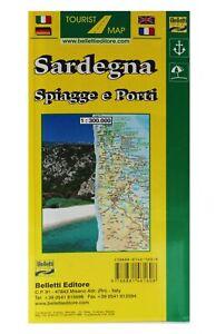 Cartina Sardegna Turistica.Sardegna Spiagge E Porti Carta Stradale Turistica Cartina Mappa Belletti Ebay