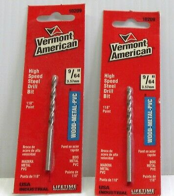 "Vermont American HSS  118* 19//64/"" USA /& Industrial Drill Bit 10219"