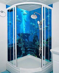 3d Ocean Fish Wallpaper Bathroom Print, Fish Wallpaper For Bathroom