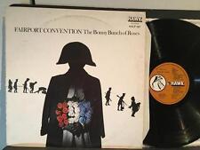 FAIRPORT CONVENTION BONNY BUNCH OF ROSES~NM- ORIG 1977 IRELAND LP~HAWK 167~PEGG