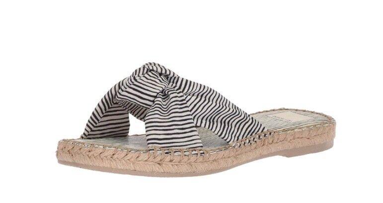 Dolce Vita White Women's Benicia Slide Sandal White Vita Stripe Fabric 7.5 M US 31500f