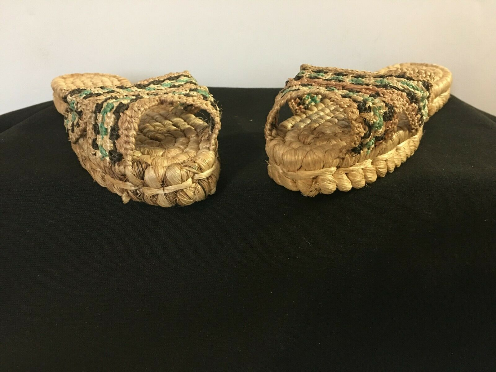 Vintage 1940's Hand Woven Women's Sandals from Ph… - image 3